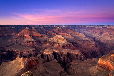USA14991AW Scenic view of Grand Canyon at sunset, Hopi Point, Grand Canyon National Park, Arizona, USA