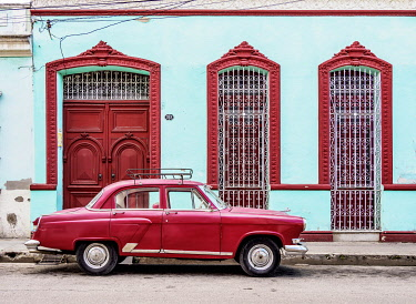 Vintage Car on the street of Camaguey, Camaguey Province, Cuba