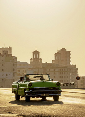 CUB1661AWRF El Malecon at sunset, Havana, La Habana Province, Cuba