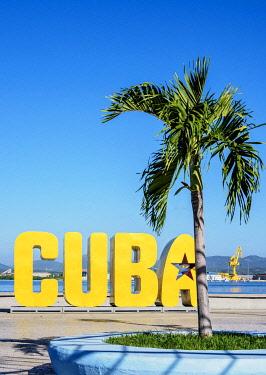 CUB1698AWRF Cuba Letters, Santiago de Cuba, Santiago de Cuba Province, Cuba