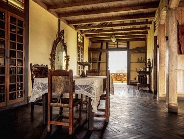CUB1801AW Mansion interior, Cafetal La Isabelica, UNESCO World Heritage Site, La Gran Piedra, Santiago de Cuba Province, Cuba
