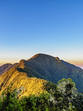 CUB1819AW Pico Turquino at sunrise, Cuba highest mountain, Sierra Maestra, Santiago de Cuba Province, Cuba