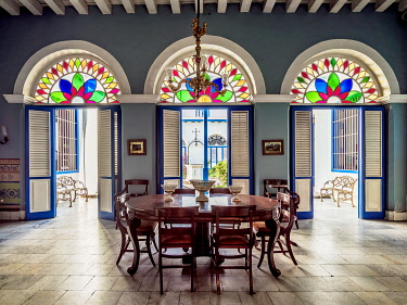 CUB2062AW Diego Velazquez House, interior, Santiago de Cuba, Santiago de Cuba Province, Cuba