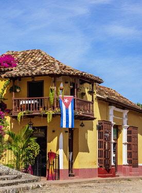 CUB2136AW Colourful street of Trinidad, Sancti Spiritus Province, Cuba