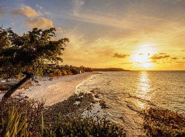 CUB2226AW Playa Esmeralda at sunset, Holguin Province, Cuba