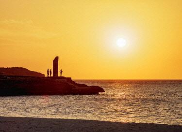 CUB2240AW Guardalavaca Beach at sunset, Holguin Province, Cuba