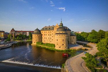 SW03403 Sweden, Narke, Orebro,  Orebro Slottet Castle, exterior, high angle view