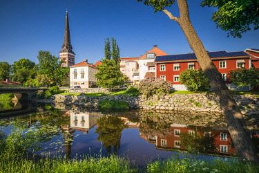 SW03424 Sweden, Vastmanland, Vasteras,  old town buildings by the Svartan River