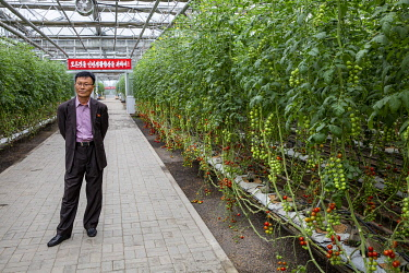 North Korea, Pyongyang. The Director of the Vegetable Science Institute.