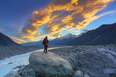 NZ9795AW Tasman lake,  Mount Cook National Park, Canterbury, New Zealand