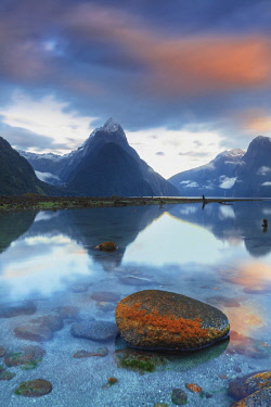 NZ9879AW Mitre Peak, Milford Sound, South Island, New Zealand