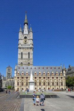 HMS3575186 Belgium, East Flanders, Ghent, belfry built in the 14th century listed as World Heritage by UNESCO