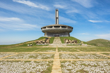 HMS3601632 Bulgaria, Grand Balkan, Gabrovo, Bouzloudja summit, former Communist congress center Designed by the architect Gueorguy Stoilov, abandoned since 1989