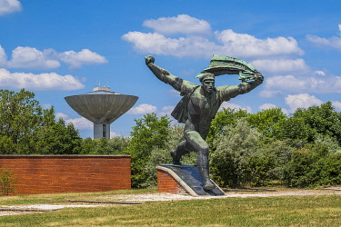 HMS3651926 Hungary, Central Hungary, Budapest, Szobor Park or Memento Park includes all the ancient statues erected to the glory of communism in the Hungarian capital