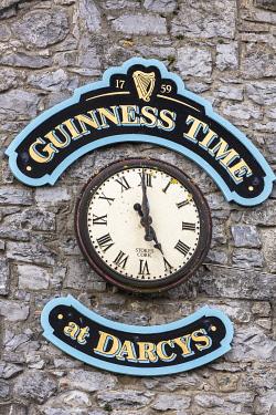 HMS3599405 Ireland, County Galway, Galway, pub clock