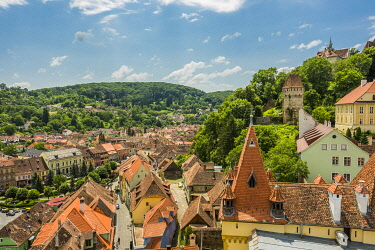 HMS3606972 Romania, Transylvania, Sighisoara, is one of the seven Saxon fortified cities of Transylvania, classified as World Heritage by UNESCO