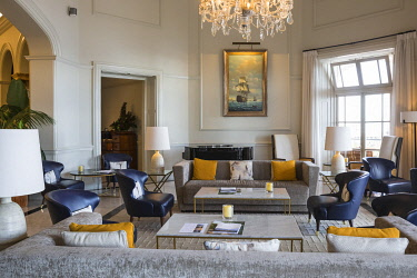 PT04110 Portugal, Madeira, Funchal, Hotel Belmond Reid's Palace, Reception lounge