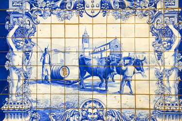 PT04135 Portugal, Madeira, Funchal, 1867 fountain tiles