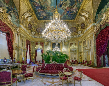 HMS3505526 France, Paris , Louvre museum, Napoleon III apartments, the reception room