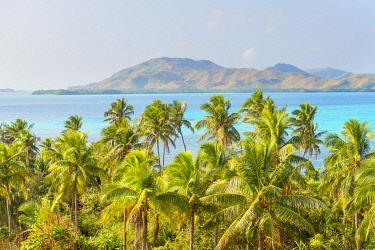 FIJ1502AW View of Nanuya Lailai Island, Yasawa island group, Fiji, South Pacific islands
