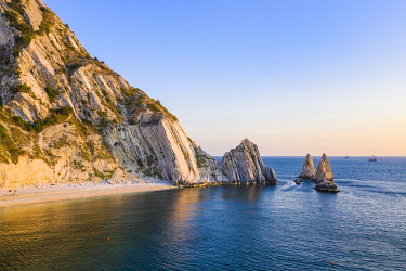 CLKAC122964 The Due Sorelle (Two Sisters) beach, Conero Riviera, Sirolo, Ancona province, Marche, Italy