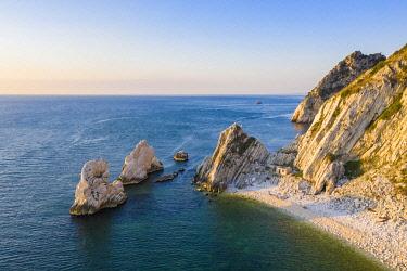 CLKAC122968 The Due Sorelle (Two Sisters) beach, Conero Riviera, Sirolo, Ancona province, Marche, Italy
