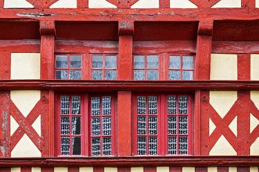 CLKDB121519 Brittany, France, Tréguier. Brittany architectural details,windows Tréguier village