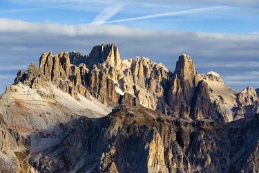CLKFM113824 Italy,Veneto,Belluno district,Cortina d'Ampezzo,the morning sun lights on the Fanis group