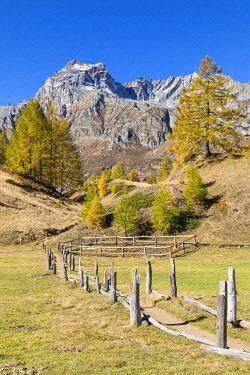 CLKGP119911 The Cervandone Peak from Alp Crampilo in autumn season, Alpe Veglia and Alpe Devero Natural Park (Alpe Devero, Baceno, Antigorio Valley, Verbano Cusio Ossola province, Piedmont, Italy, Europe)