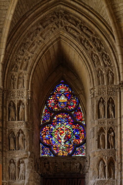 France, Marne, Reims, Notre Dame cathedral, listed as World Heritage by UNESCO