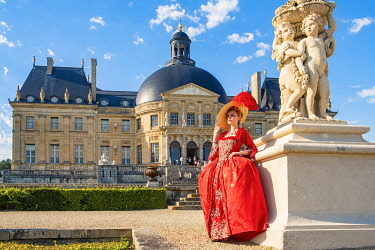 HMS3525532 France, Seine et Marne, Maincy, the castle of Vaux-le-Vicomte, 15th Grand Siecle Day : costume day of the 17th century