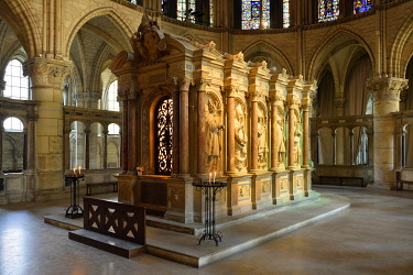 France, Marne, Reims, Saint Remi basilica, tomb of Saint Remi