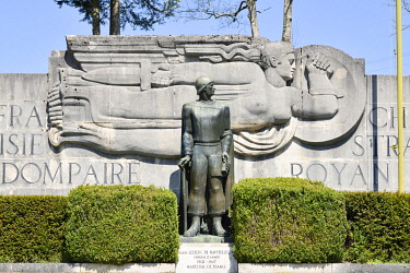HMS3526206 France, Vosges, Dompaire, memorial of the battle of tanks of the 2nd Db of Gal Leclerc which took place from 12 to 15 September 1944, monument Leclerc