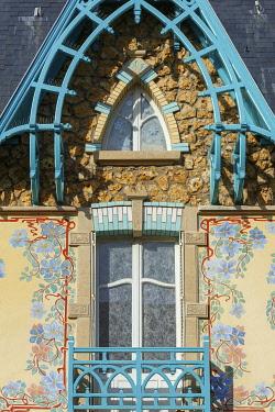 HMS3533623 France, Meurthe et Moselle, Nancy, Villa Les Glycines in Art nouveau stylee in Rue Felix Faure, architect Cesar Pain (1904)