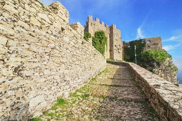 ITA15061AW Venus Castle Erice, Sicily, Italy.