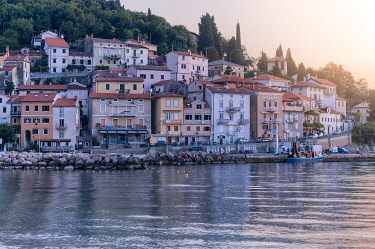 CLKMG120717 Moscenicka Draga, morning light, Kvarner Bay, Opatija riviera, Adriatic Sea, Croatia