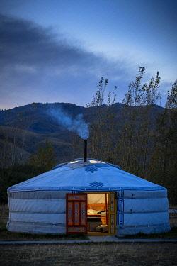 CLKSL119223 A Mongolian Ger in Campsite, Kharkhorin district, Mongolia