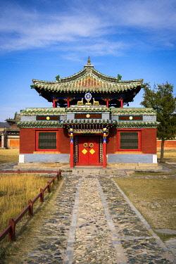 CLKSL119698 Dalai Lama temple at Erdene Zuu, Kharkhorin, Ovorkhangai Province, Orkhon Valley, Mongolia, Mongolian, Asia, Asian.