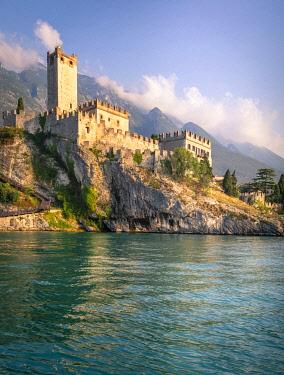 CLKST117872 Malcesine, a small village with an historic castle on Garda Lake coast. Verona province, Veneto, Italy.