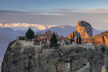 GRE1815AW The Monastery of Holy Trinity, Meteora, Thessaly, Greece