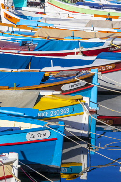 FR02843 Fishing Boats in Port Lympia, Nice, South of France,