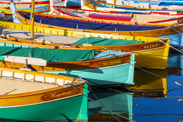 FR02844 Fishing Boats in Port Lympia, Nice, South of France,