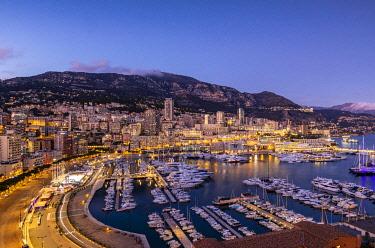 MN203RF Port Hercules Harbour at Night, Monte Carlo, Monaco