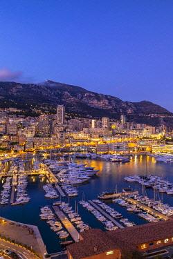 MN204RF Port Hercules Harbour at Night, Monte Carlo, Monaco