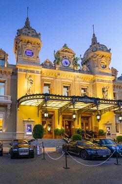 MN01056 Monte Carlo Casino at Dusk, Monte Carlo, Monaco