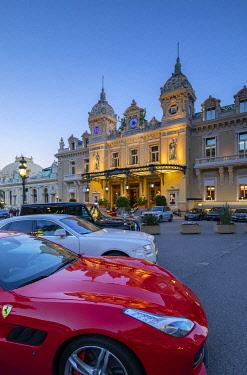 MN01065 Monte Carlo Casino at Dusk, Monte Carlo, Monaco