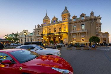 MN01066 Monte Carlo Casino at Dusk, Monte Carlo, Monaco