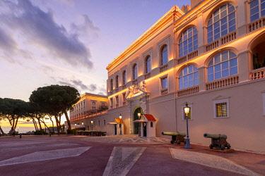 MN01074 The Prince's Palace of Monaco at Dusk, Monte Carlo, Monaco