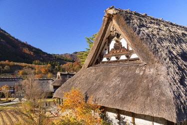 JAP2136AWRF Traditional houses of Ogimachi (UNESCO World Heritage Site), Shirakawa-go, Toyama Prefecture, Japan