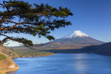 JAP2171AWRF Mount Fuji and Lake Motosu, Yamanashi Prefecture, Japan